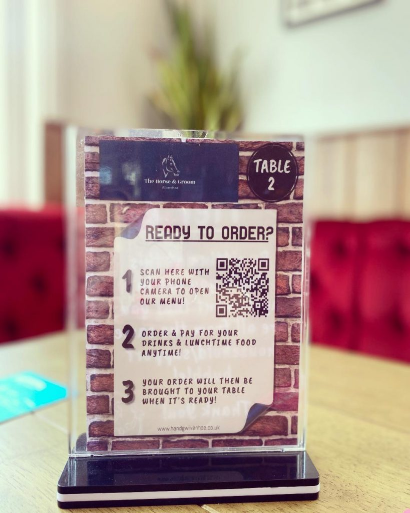 You can now order straight from your table by scanning our QR code!